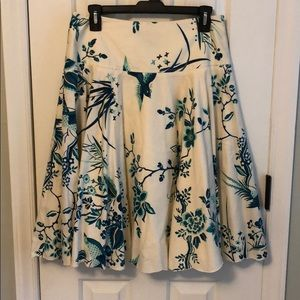 ETCETERA bird and floral print skirt